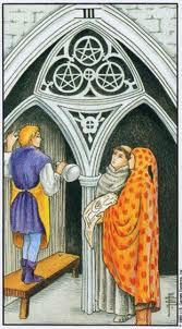 Significado del tres de oros en Amor y Amistad